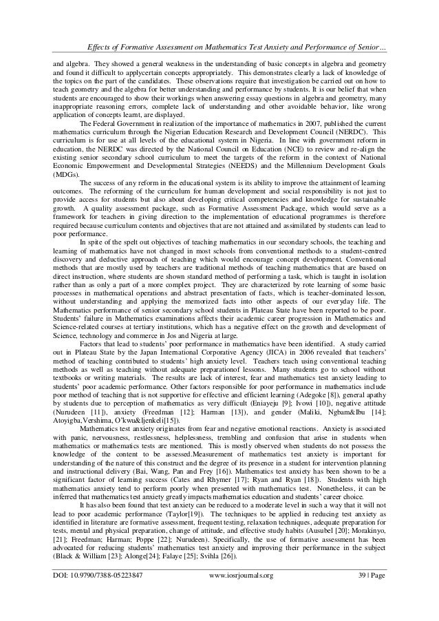 an evaluation of the effect of pressure on students performance in school School related stress in early adolescence and academic performance three  years later: the conditional influence of self expectations authors  high school  multiple regression analysis social context high stress academic performance.