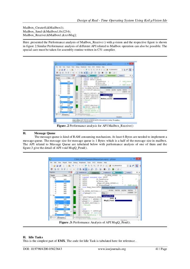 Design of Real - Time Operating System Using Keil µVision Ide