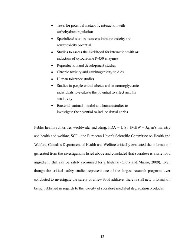 Thesis - Sucralose, A Unique Tracer for Wastewater Intrusion