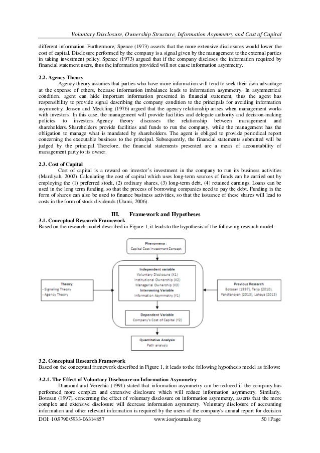Information asymmetry corporate disclosure and the