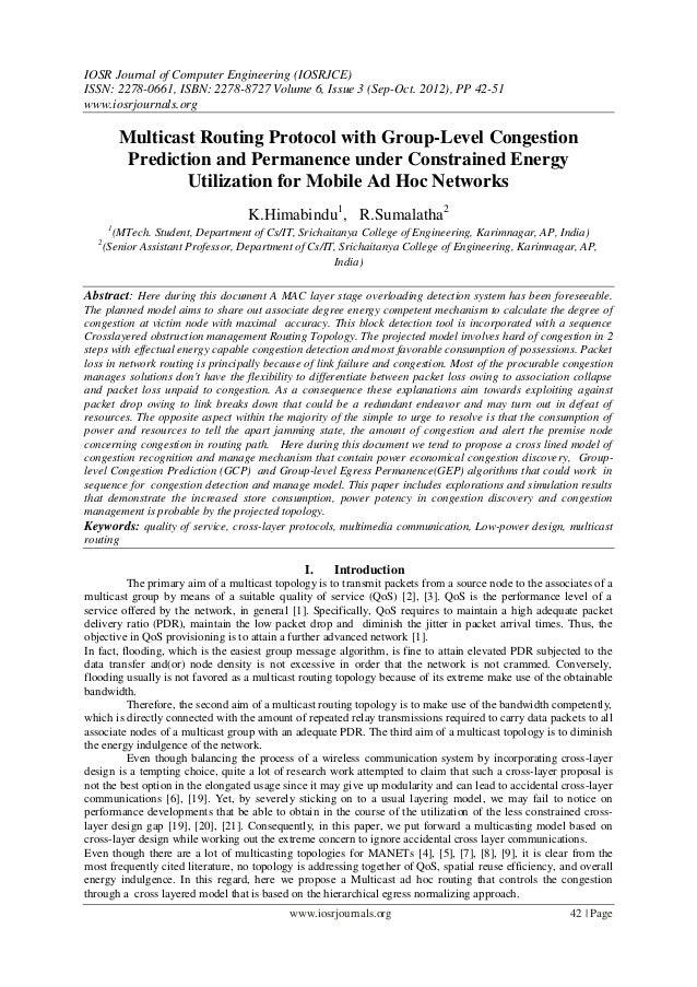 IOSR Journal of Computer Engineering (IOSRJCE) ISSN: 2278-0661, ISBN: 2278-8727 Volume 6, Issue 3 (Sep-Oct. 2012), PP 42-5...