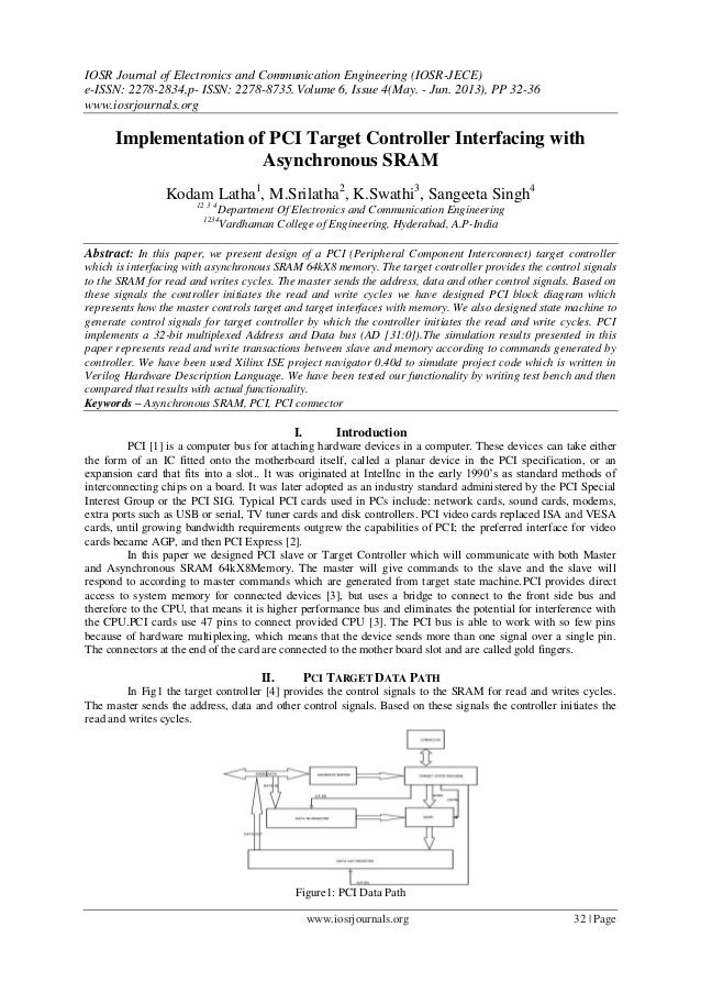 IOSR Journal of Electronics and Communication Engineering (IOSR-JECE) e-ISSN: 2278-2834,p- ISSN: 2278-8735.Volume 6, Issue...