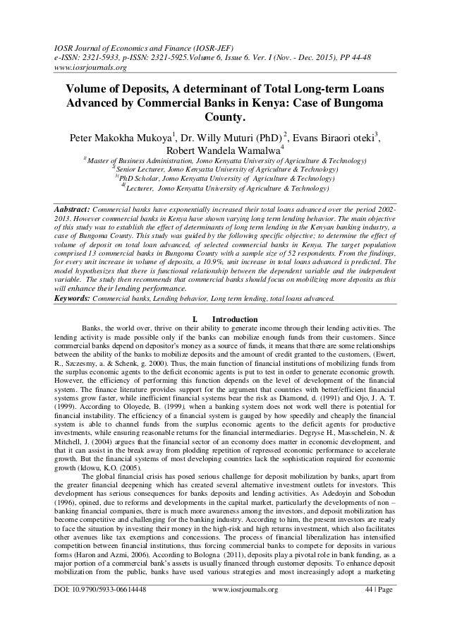 IOSR Journal Of Economics And Finance (IOSR JEF) E ISSN: 2321 ...