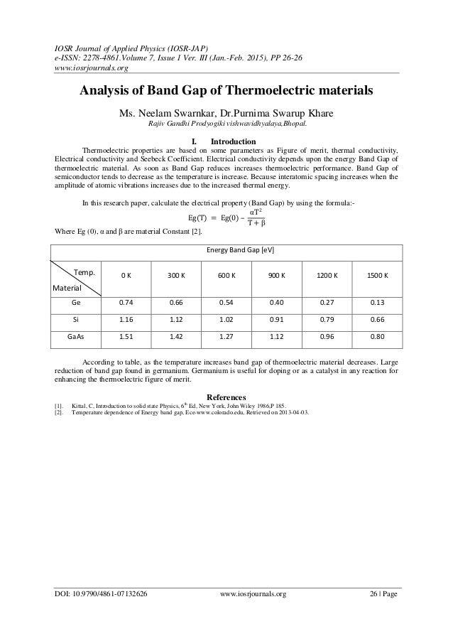 IOSR Journal of Applied Physics (IOSR-JAP) e-ISSN: 2278-4861.Volume 7, Issue 1 Ver. III (Jan.-Feb. 2015), PP 26-26 www.ios...
