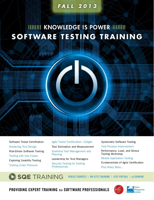 Providing Expert Training to Software Professionals Software Tester Certification Mastering Test Design Risk-Driven Softwa...