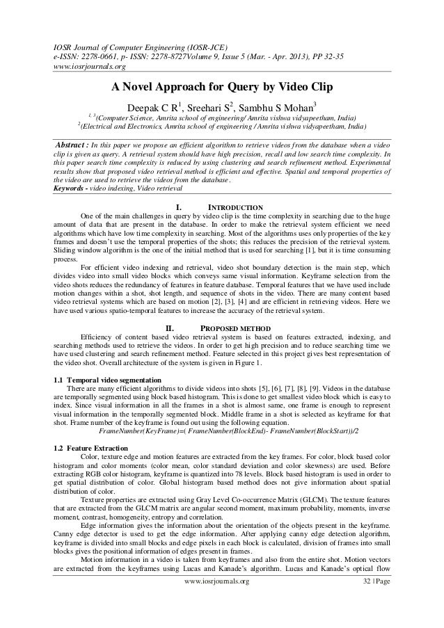IOSR Journal of Computer Engineering (IOSR-JCE)e-ISSN: 2278-0661, p- ISSN: 2278-8727Volume 9, Issue 5 (Mar. - Apr. 2013), ...