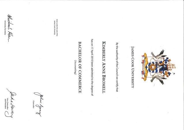 Bromell, Kimberly - Bachelor Certificate