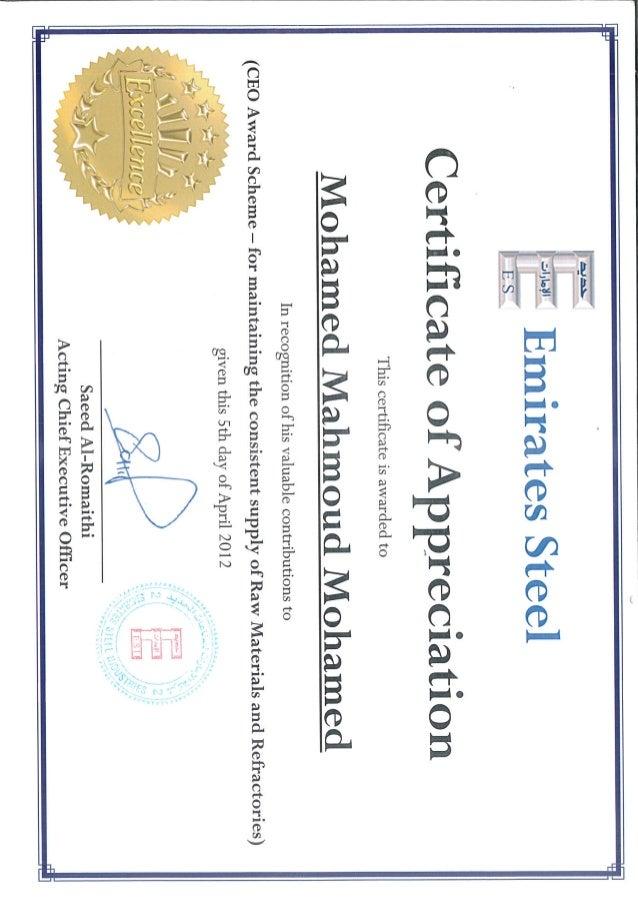 07 - Certificate of Appreciation - CEO Award Scheme for ...