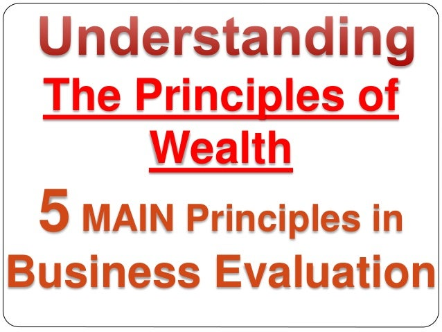 The Principles of Wealth 5 MAIN Principles in Business Evaluation