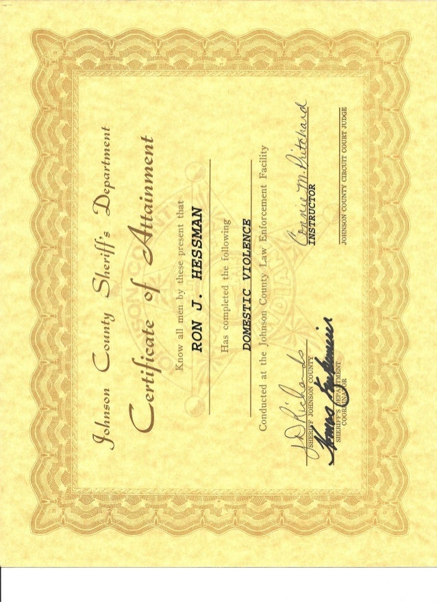 Jcsd Domestic Violence Training Certificate