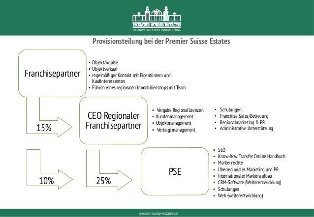PORTAMONDIAL.COMpremier-suisse-estates.ch EXCLUSIVE PARTNER OF PORTA MONDIAL Provisionsteilung bei der Premier Suisse Esta...