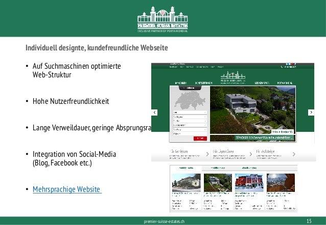 PORTAMONDIAL.COMpremier-suisse-estates.ch EXCLUSIVE PARTNER OF PORTA MONDIAL Individuell designte,kundefreundliche Webseit...
