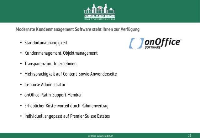 PORTAMONDIAL.COMpremier-suisse-estates.ch EXCLUSIVE PARTNER OF PORTA MONDIAL Modernste Kundenmanagement Software steht Ihn...