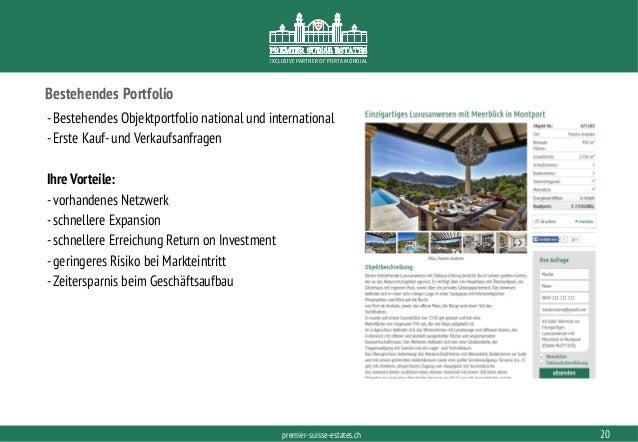 PORTAMONDIAL.COMpremier-suisse-estates.ch EXCLUSIVE PARTNER OF PORTA MONDIAL Bestehendes Portfolio -Bestehendes Objektport...