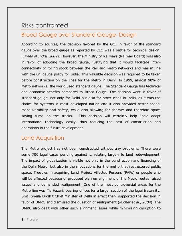 A Case Study of the Delhi-Mumbai Dedicated Freight Corridor