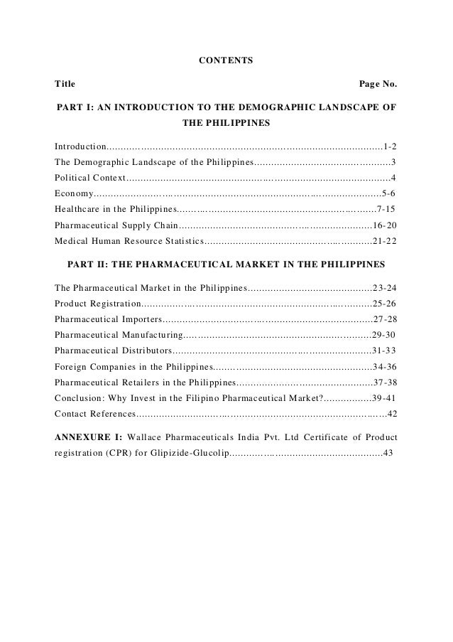 The Philippines' Pharmaceutical Market