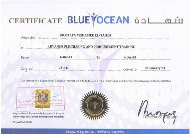 Blue Ocean Advanced Purchasing And Procurement Training