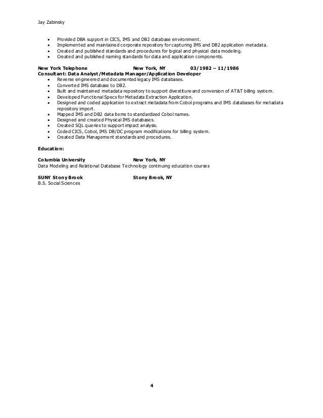 senior data modeler resume