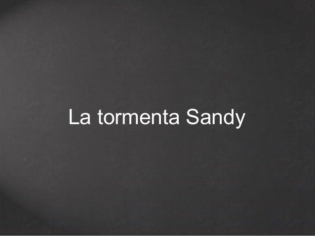 La tormenta Sandy