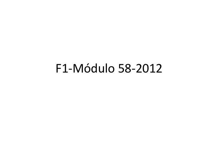 F1-Módulo 58-2012