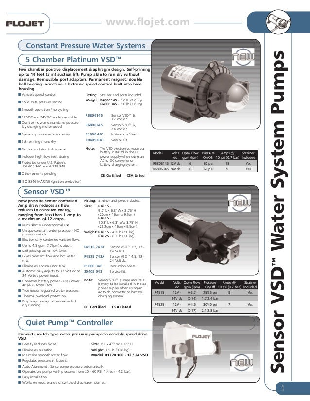 flojet water pump systems for caravan rv rh slideshare net Basic Electrical Wiring Diagrams flojet pump wiring diagram