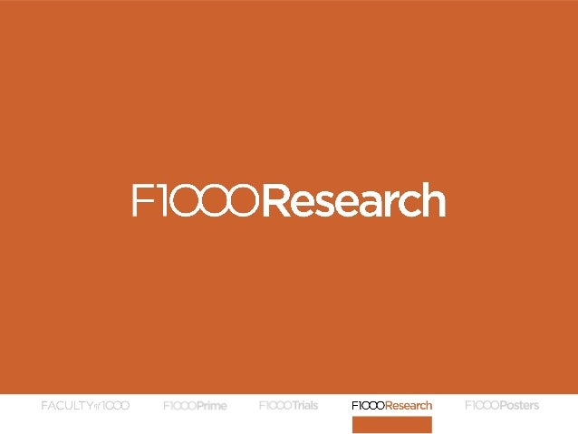 INTRODUCTION TO F1000RESEARCH Graham Steel Open Science Enthusiast F1000 Specialist