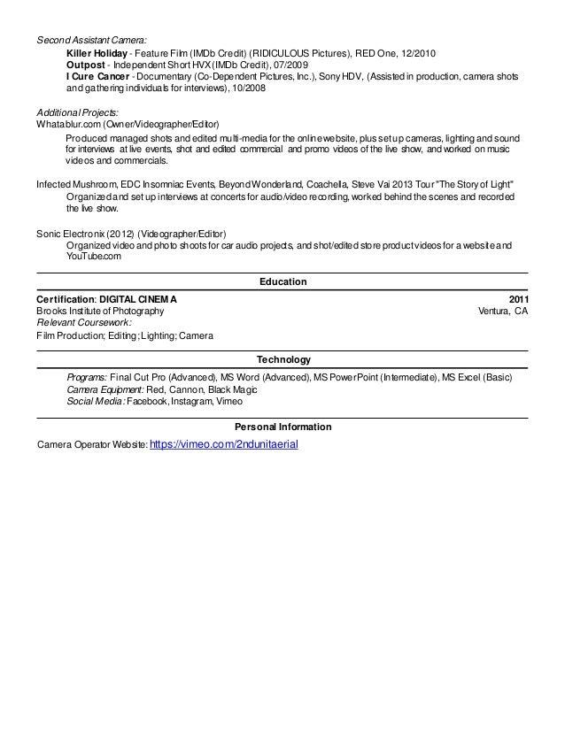 Resume for Lance Rand