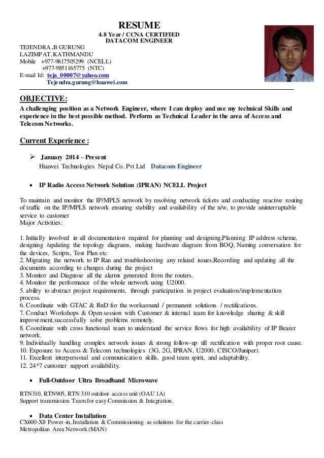 Tejendra Bahadur Gurung Datacom Engineer