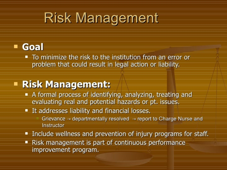 risk management in nursing Looking to improve the inefficiencies in your healthcare organization's risk management processes these 2 solutions will enable proactive risk management.