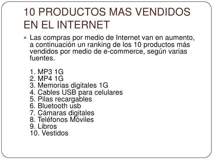 10 productos mas vendidos - Articulos mas vendidos ...