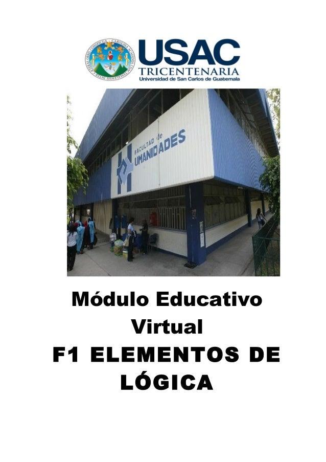 Módulo Educativo      VirtualF1 ELEMENTOS DE     LÓGICA