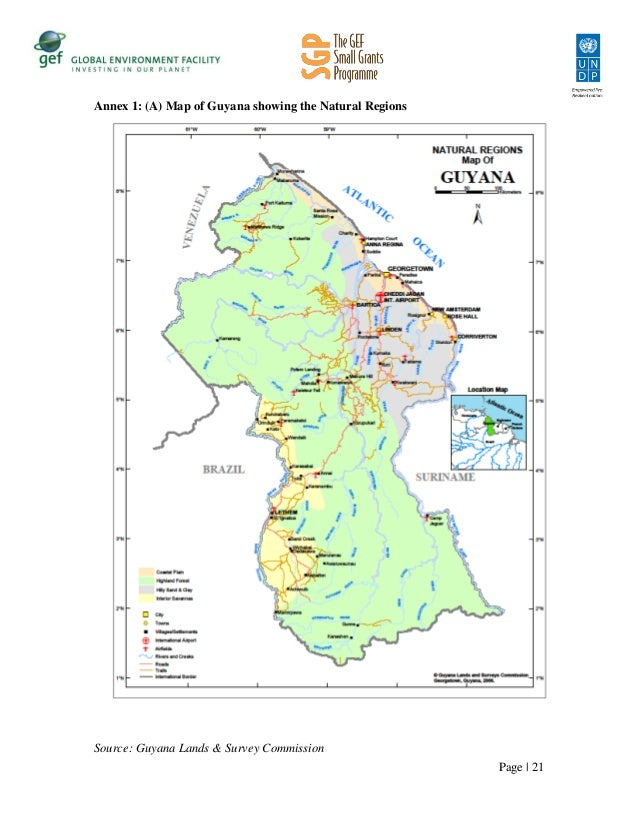 Guyana Natural Resources Map