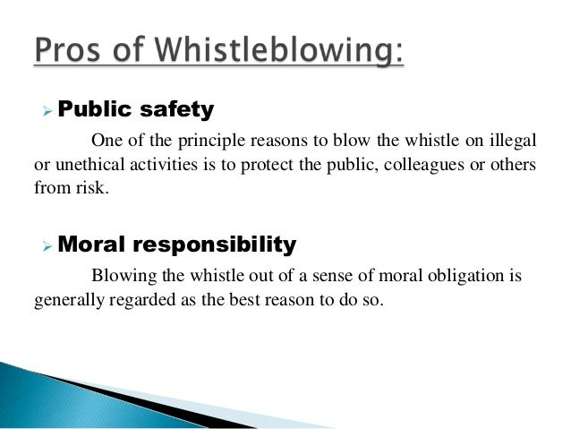 ethics of whistle blowing
