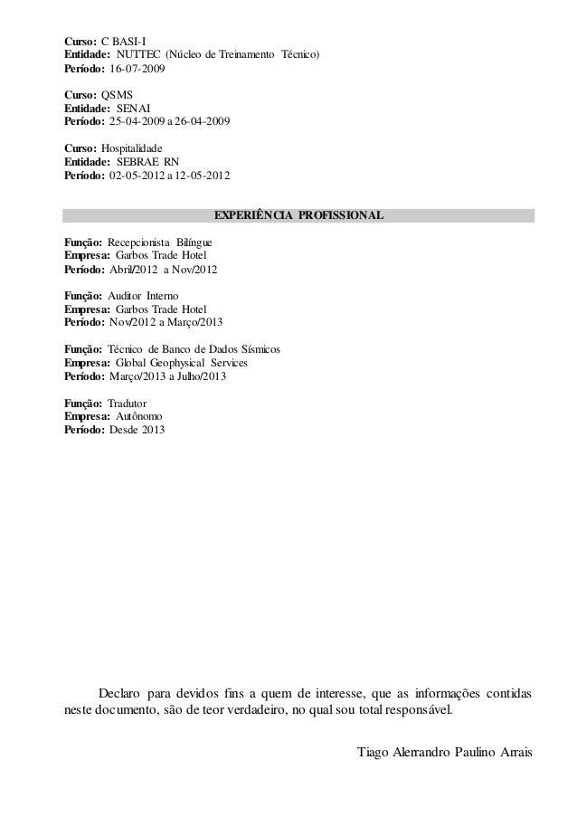 Curriculum 2015 (Portugês) Slide 2