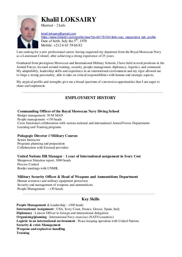 Khalil Loksairy Cv English Version