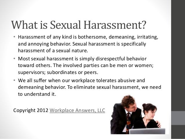 Simple meaning of sexual harassment