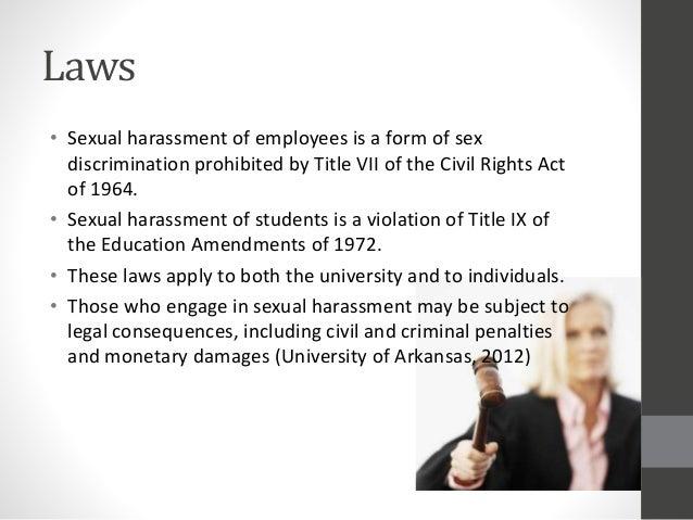 Sexual harassment act slideshare presentation