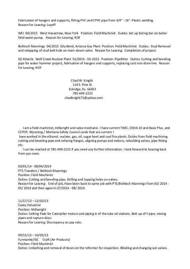 Chad Knight Resume April 2016 (1) (1)