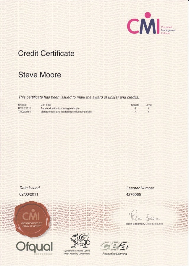 Cmi level 5 management 5006