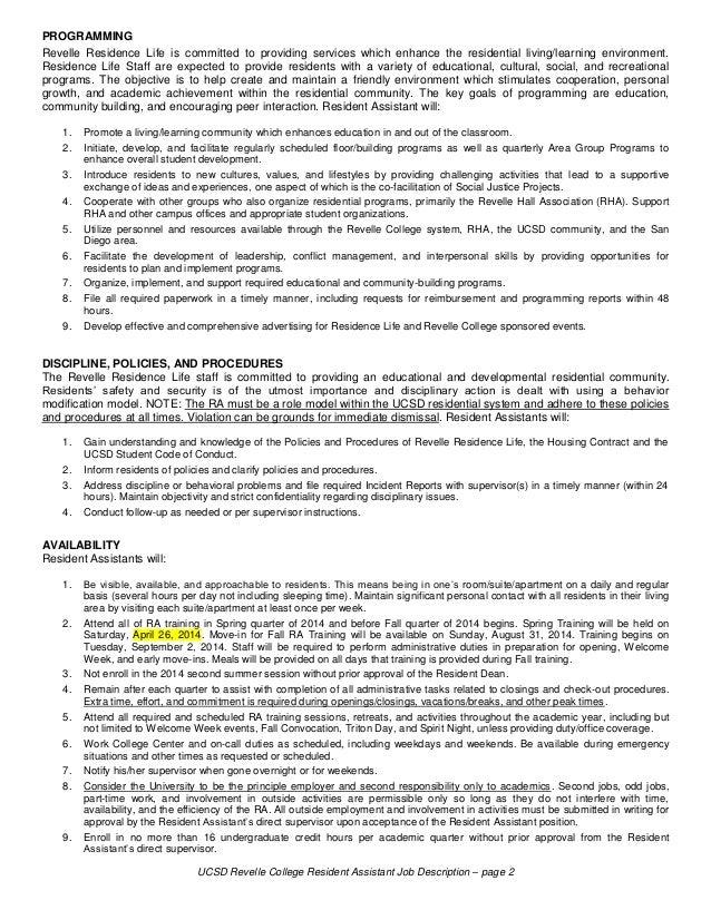 J-NewsResident Assistant Job Description. Cover Letter Graphic ...