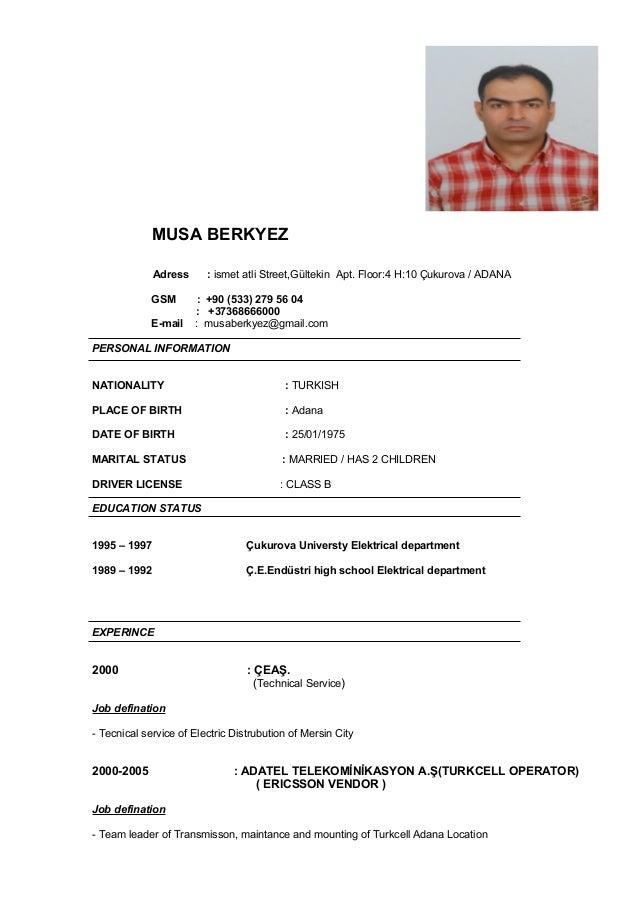 DOC. MUSA BERKYEZ Adress : ismet atli Street,Gültekin Apt. Floor:4 H: ...