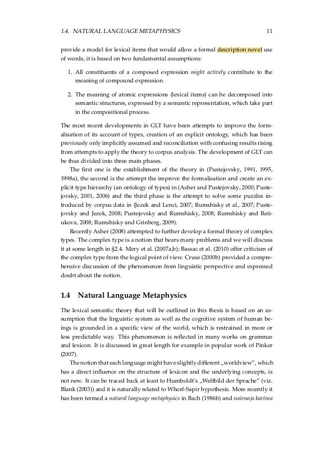 thesis semantics Abstract the focus of this thesis is to incorporate linguistic theories of semantics into data-driven models for automatic natural language understanding.