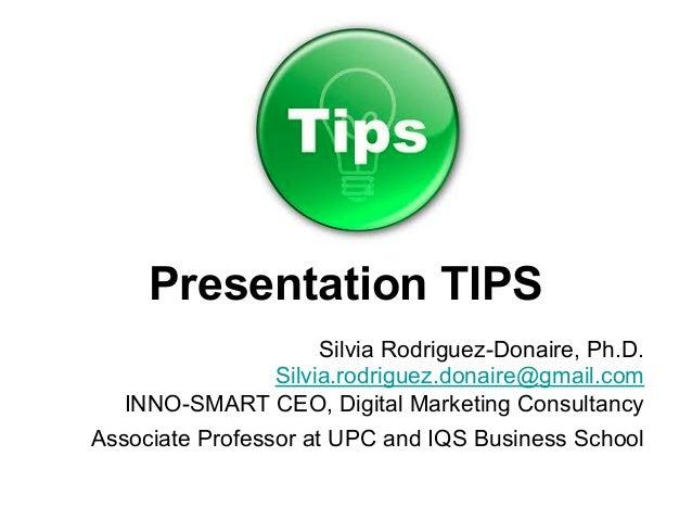 18 Tips for Killer Presentations