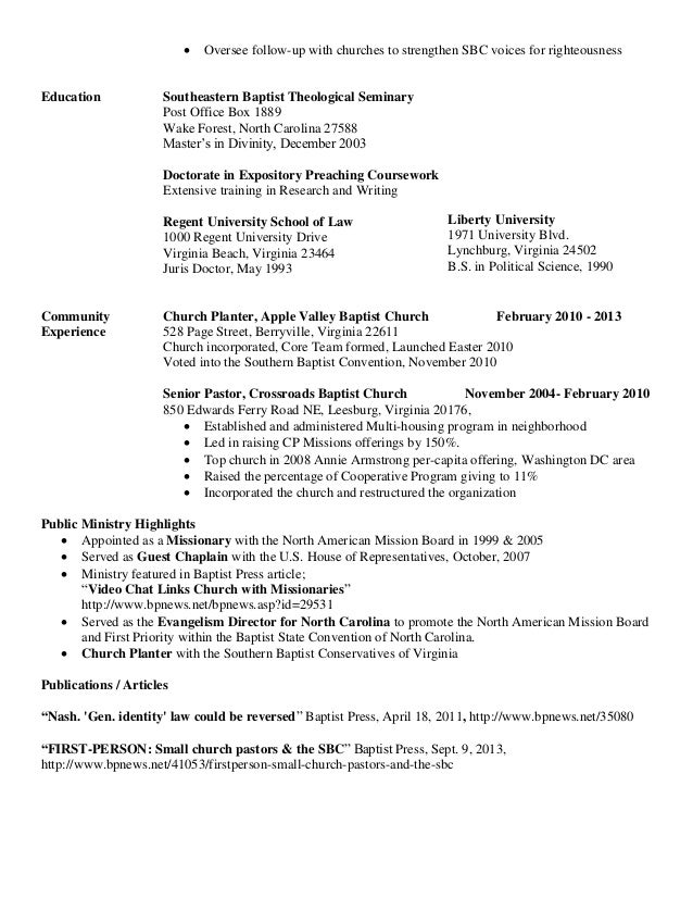Resume SBC with Reference Page