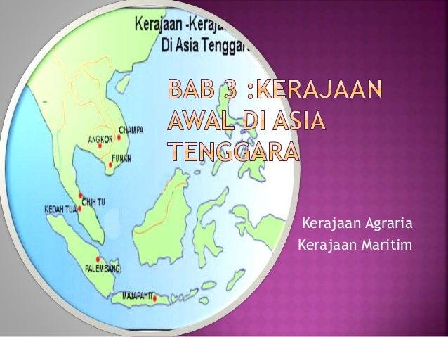 Kerajaan Agraria Kerajaan Maritim