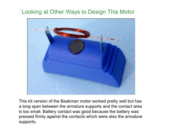 Build a simple electric motor for Grayson armature small motor