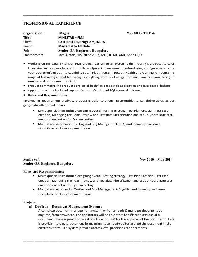 Manual Qa Resume Ultimate User Guide