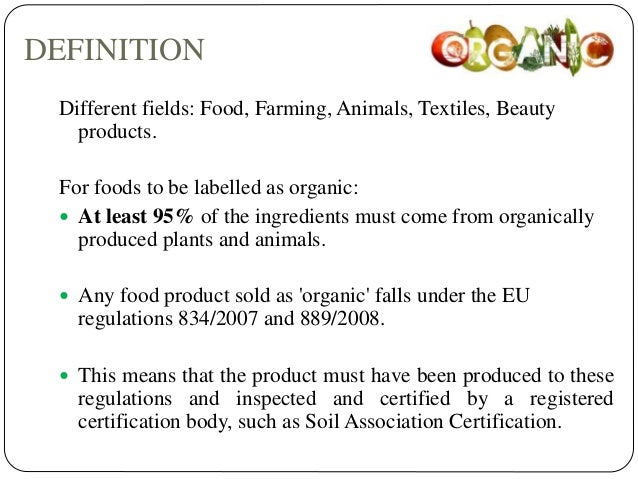 The organic food market for Organic soil definition