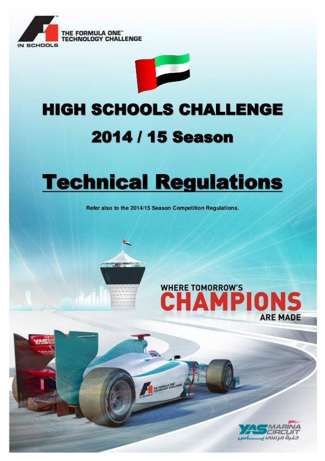 F1 In Schools 2014 2015 Technical Regulations