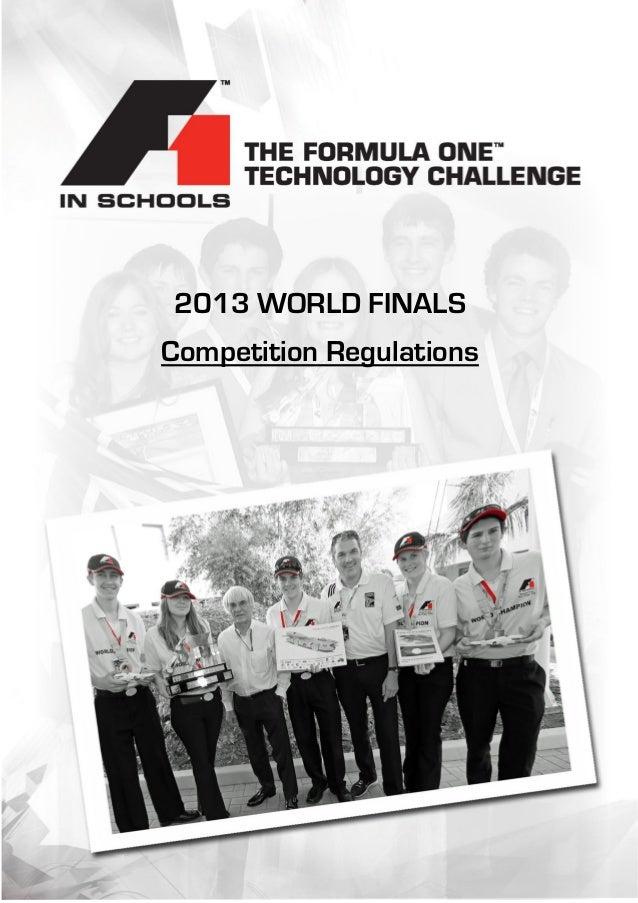 ont 2013 WORLD FINALS Competition Regulations